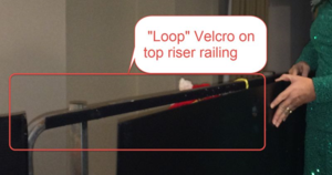 ChoralShell Velcro on railing