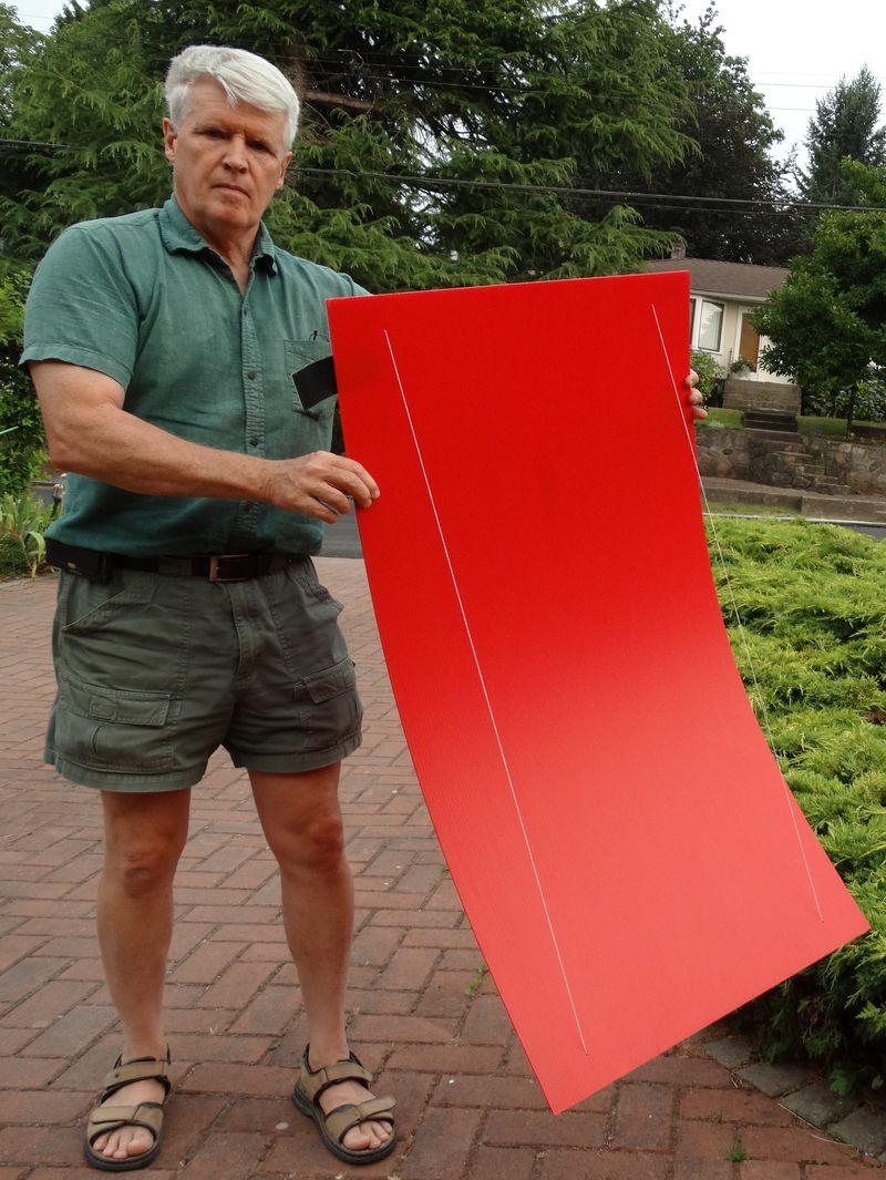 Uppershell Screen Bending red Sheet